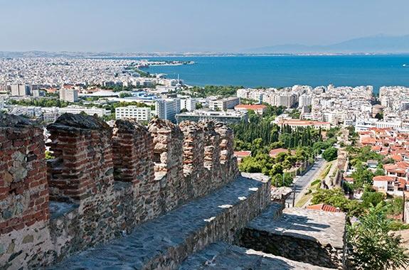 Thessaloniki, Greece where Malamatina Retsina is produced