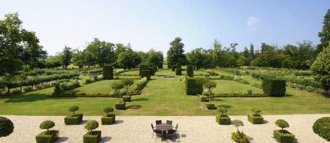 The gardens of Château Suduiraut designed by the same person who designed the gardens of Versailles