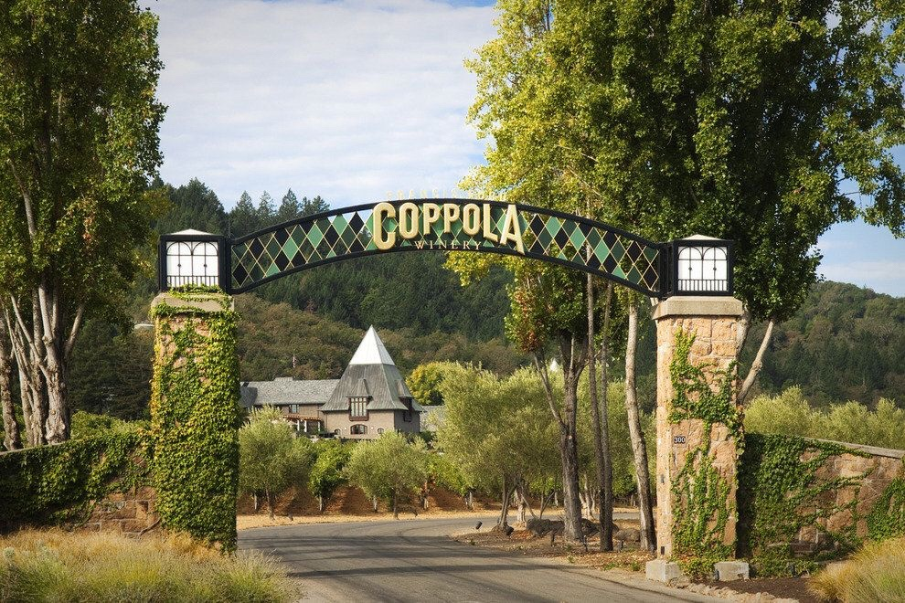 Entrance to Francis Coppola Winery