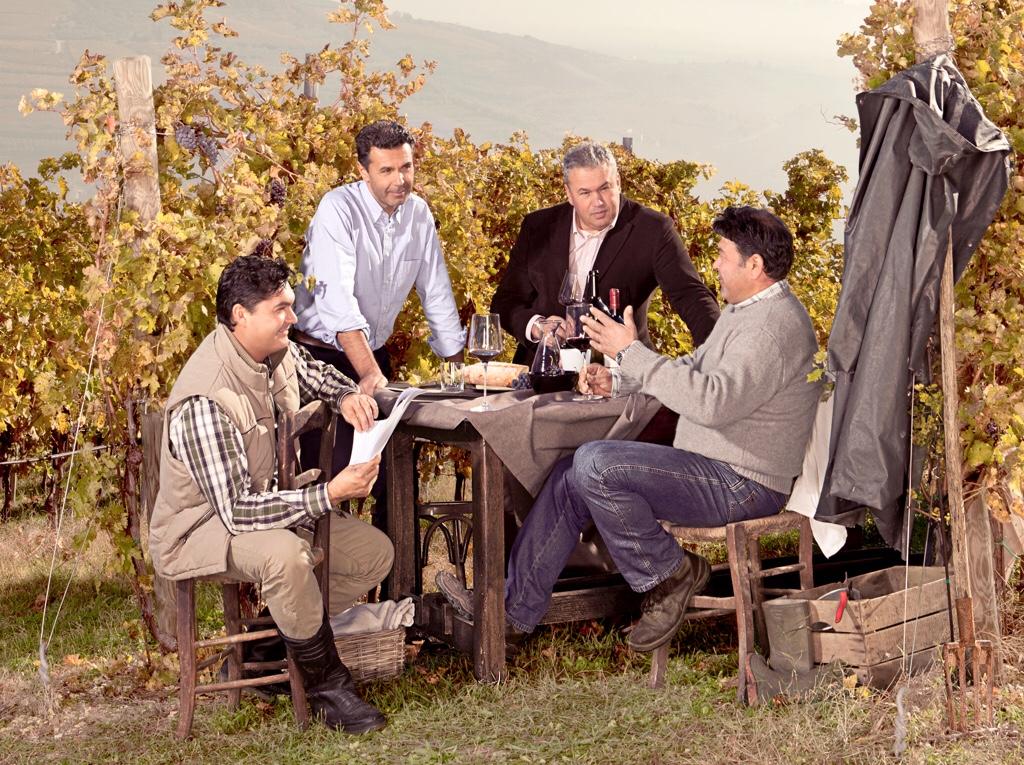 The four Castagnedi brothers who run Tenuta Sant'Antonio winery