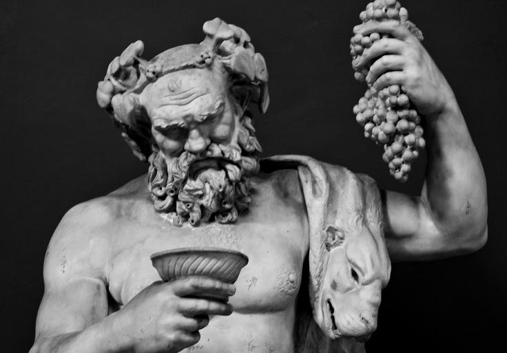 Statue of Bacchus, God of wine