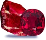 Ruby gemstones