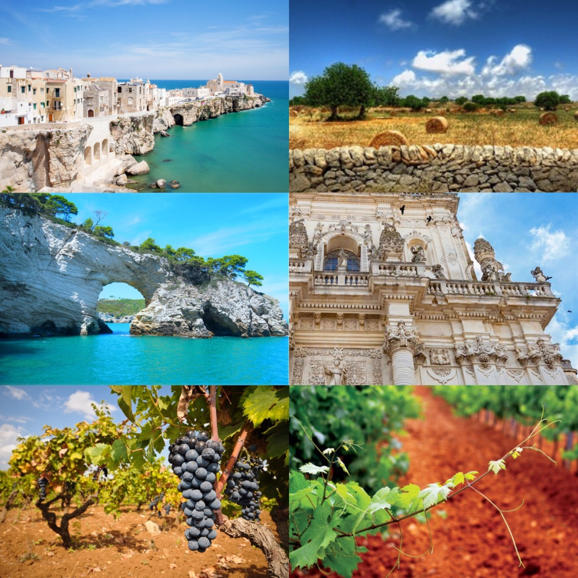 Various images of Puglia and its landscape