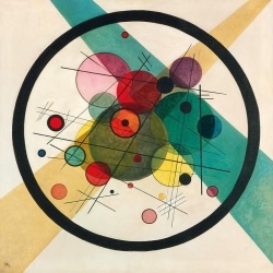 Wassily Kandinsky , Circles in a Cirle, 1923