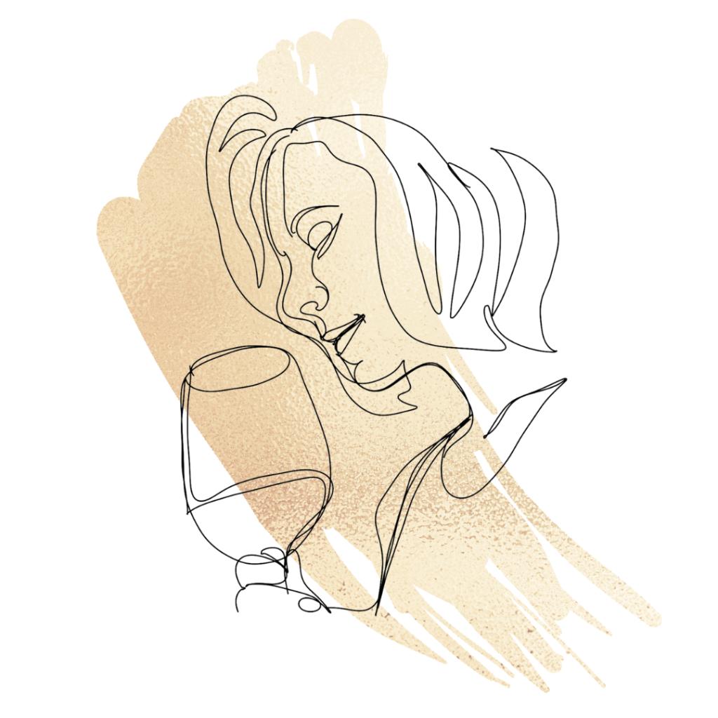 Wine tasting illustration