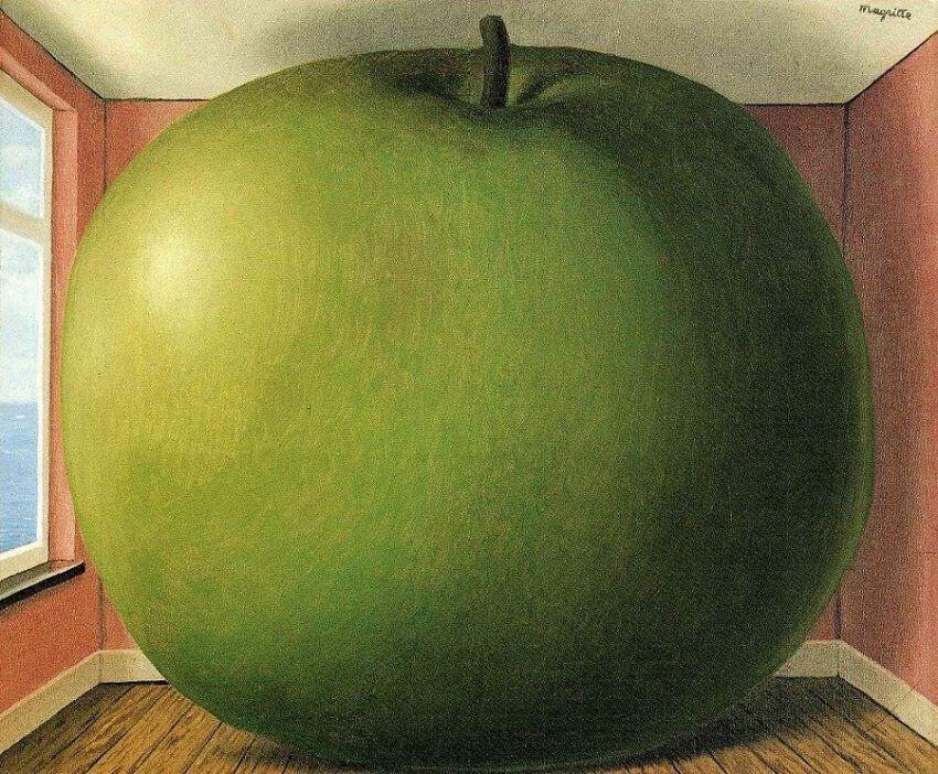 """Rene Magritte, """"The Listening Room"""", 1952"""